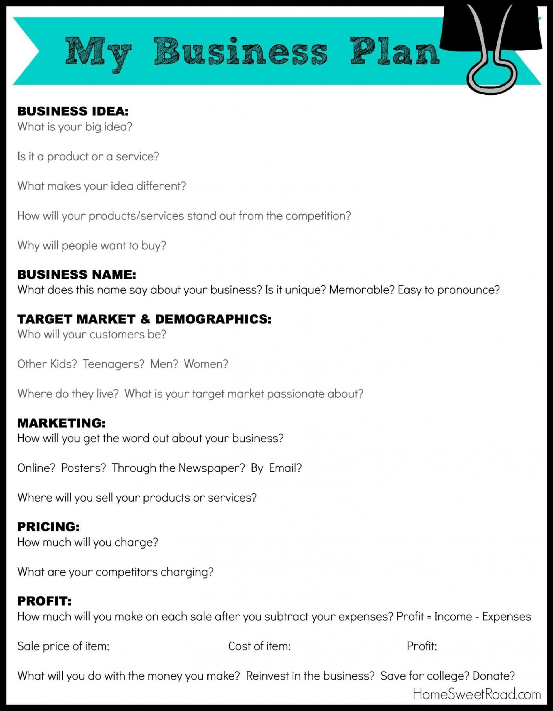 000 Amazing Basic Busines Plan Template Idea  Simple Word Download Easy Free Australia1920