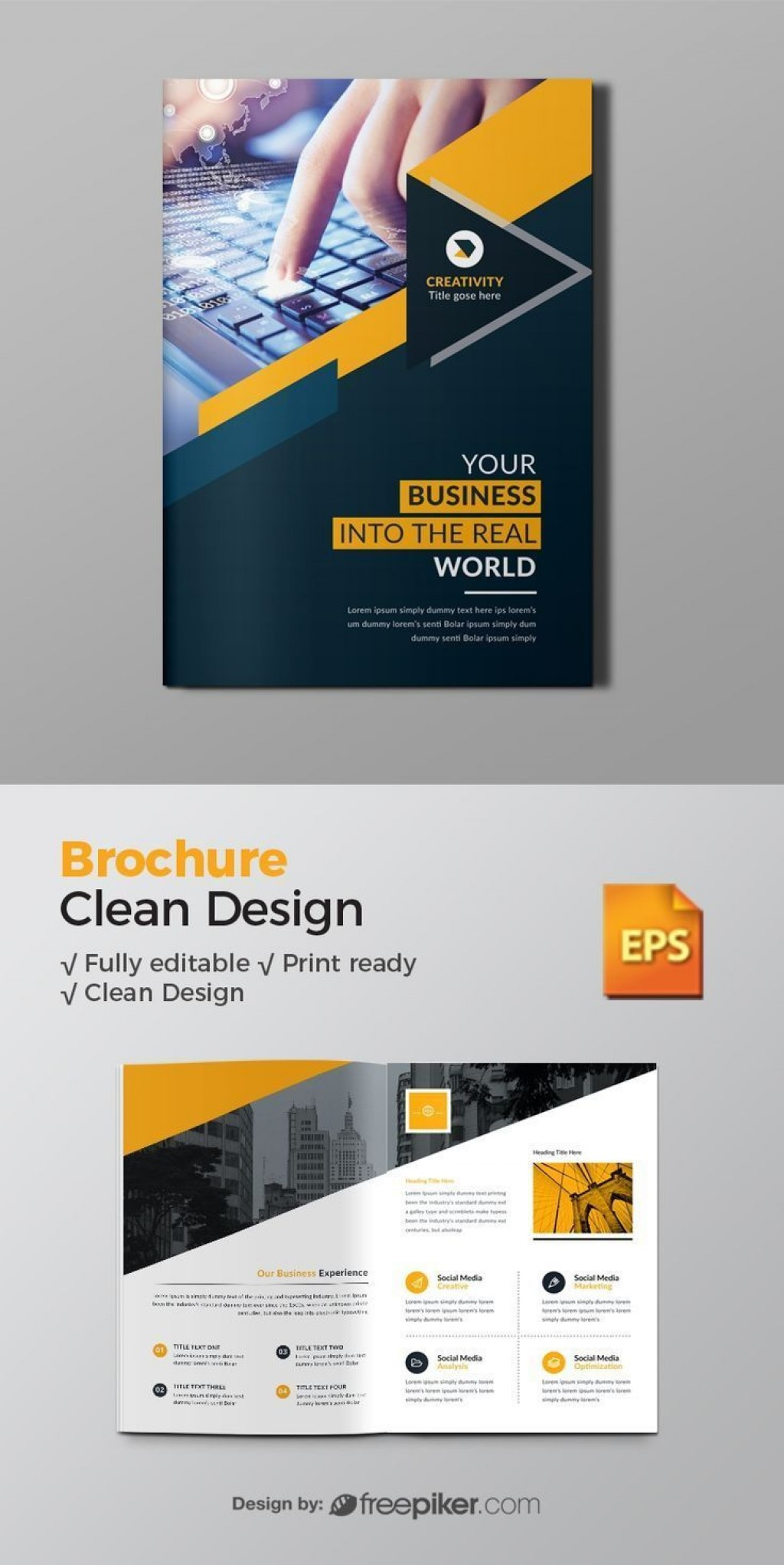 000 Amazing Brochure Design Template Free Download Psd High Definition Large