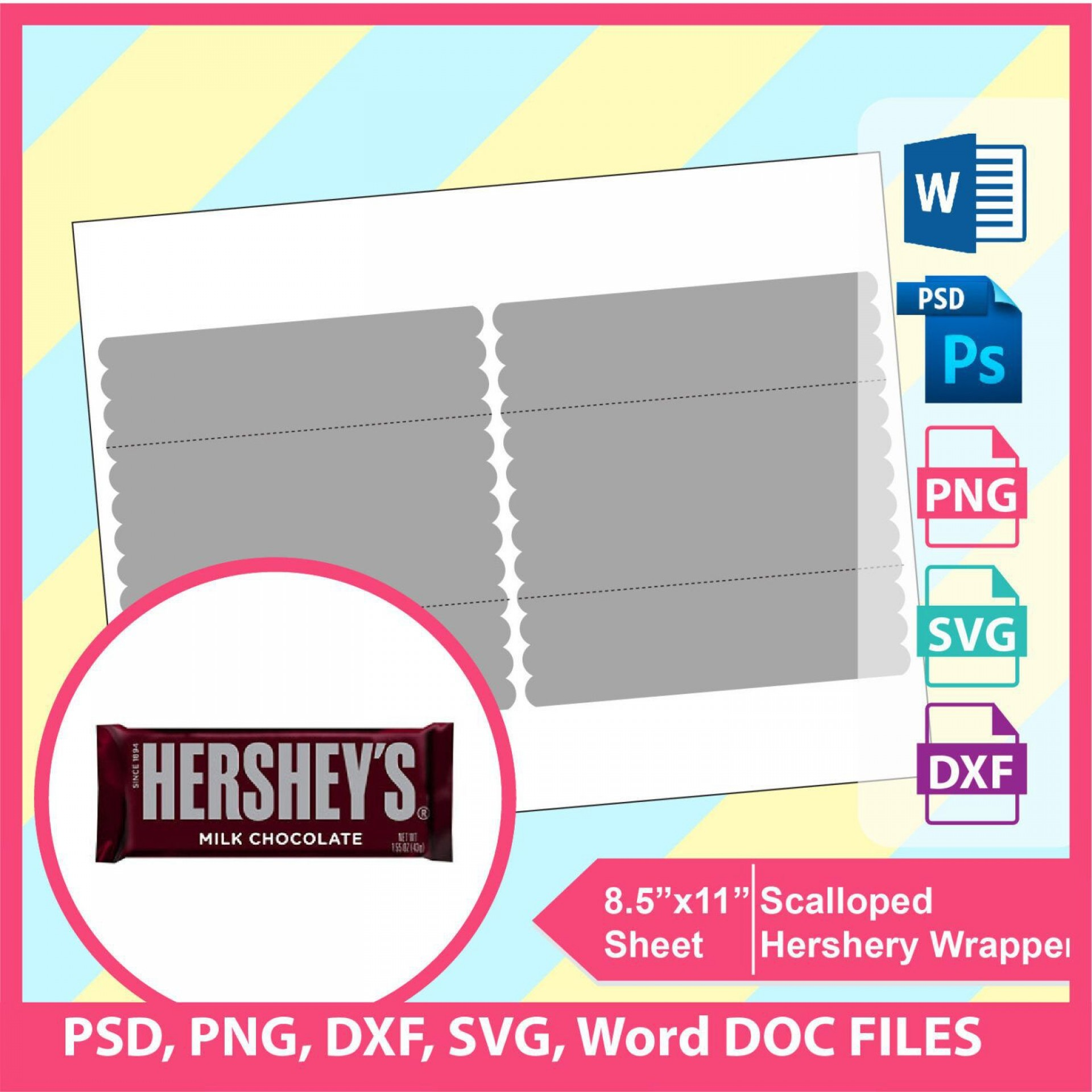000 Amazing Candy Bar Wrapper Template Photoshop Concept  Hershey Free1920