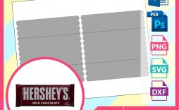 000 Amazing Candy Bar Wrapper Template Photoshop Concept  Hershey Free