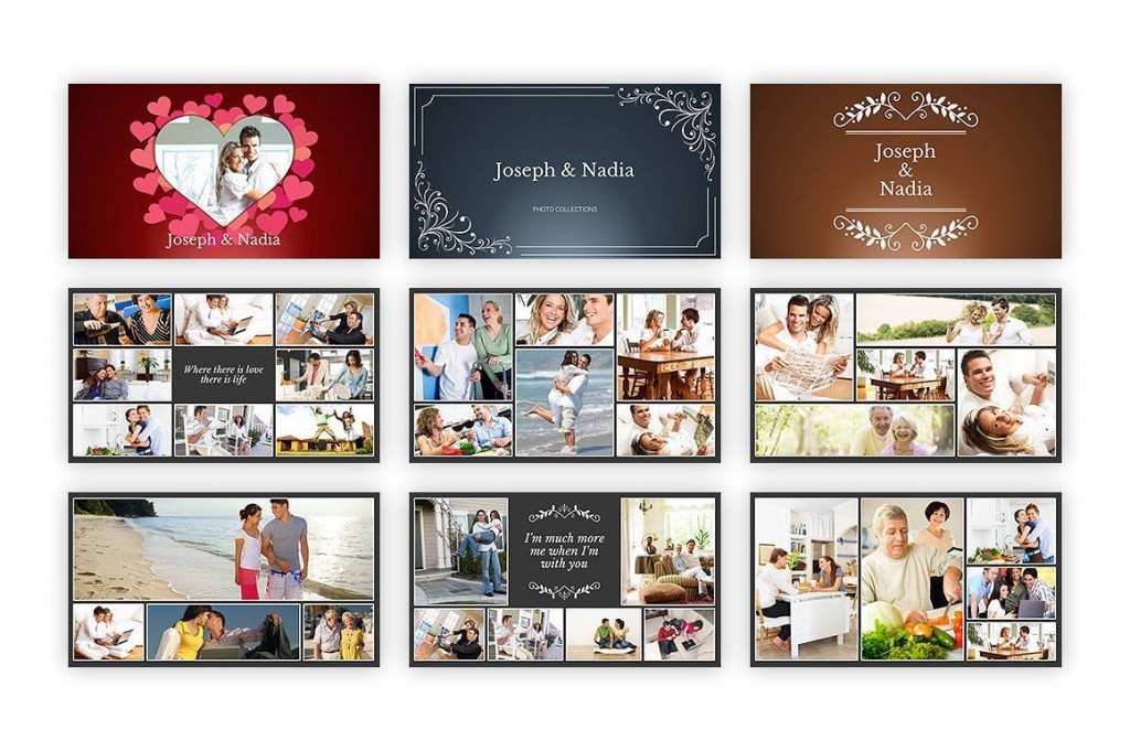 000 Amazing Free Photo Collage Template For Powerpoint Picture Large