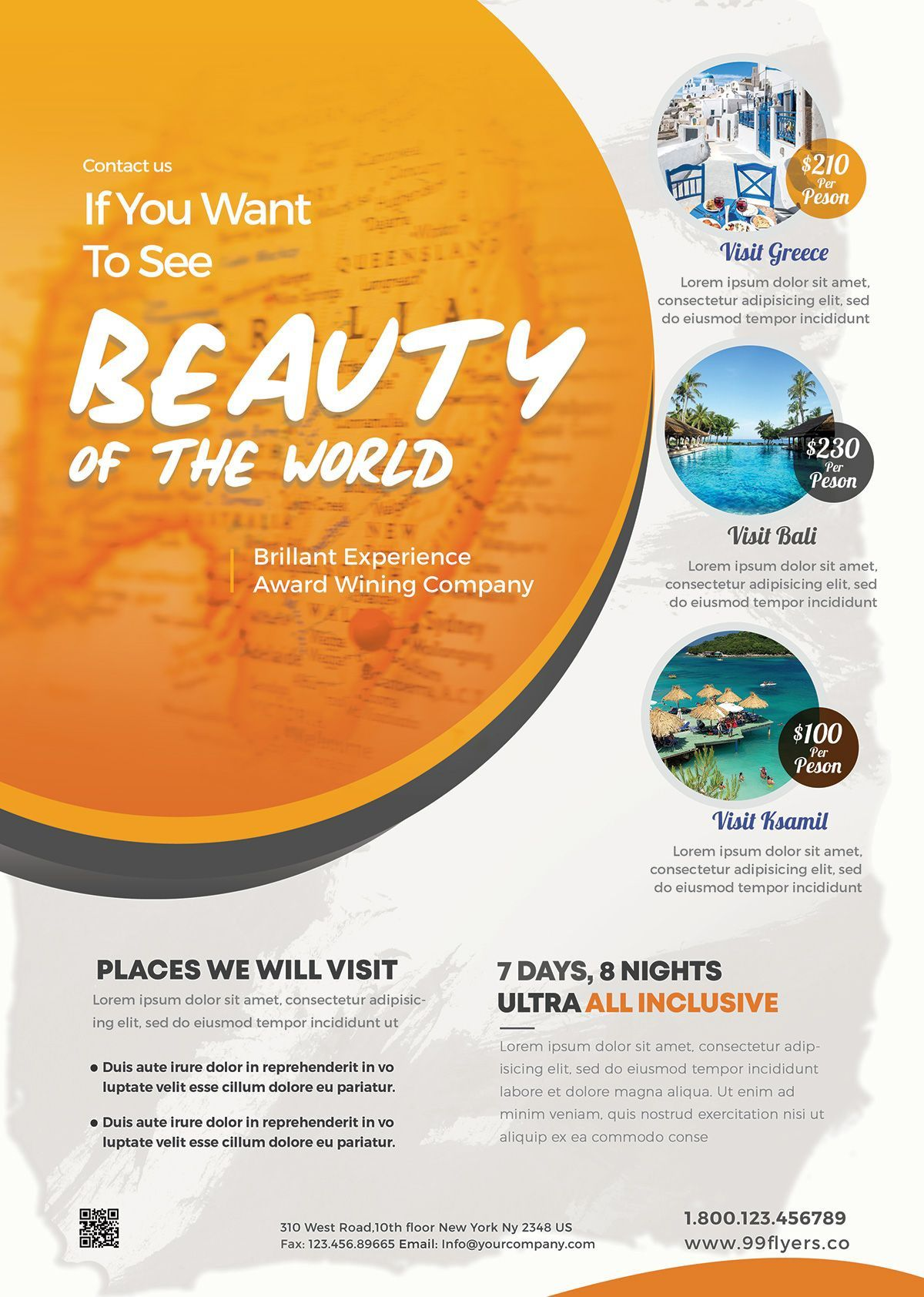 000 Amazing Free Travel Flyer Template Download Picture Full