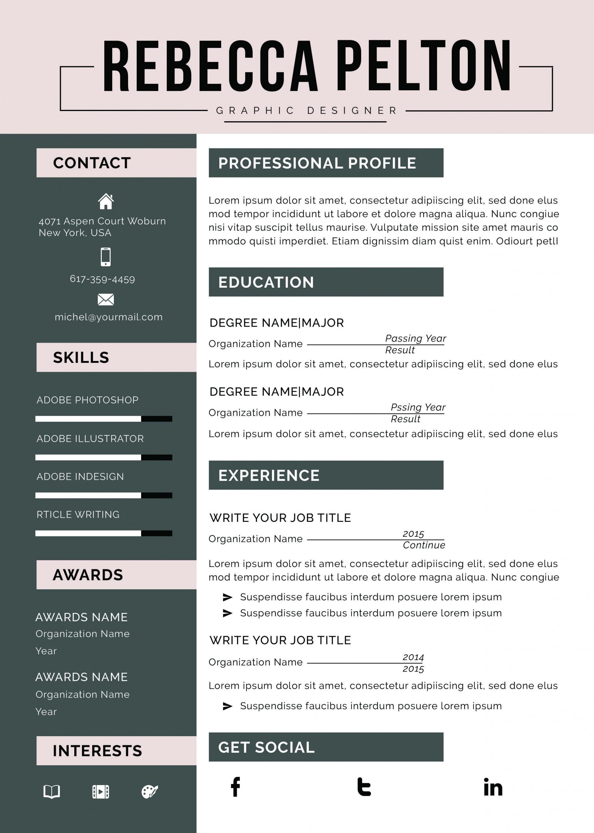 000 Amazing Functional Resume Template Free Image 1920