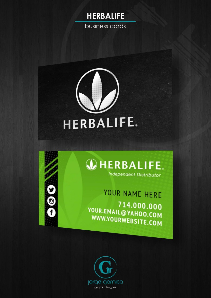 000 Amazing Herbalife Busines Card Template Highest Clarity  Free Download