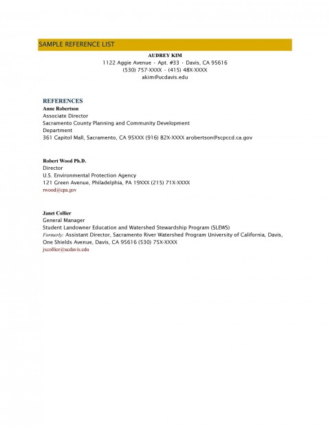 000 Amazing List Of Professional Reference Sample High Definition  Template Employment Format Job Example480