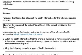 000 Amazing Medical Treatment Authorization And Consent Form Template Sample