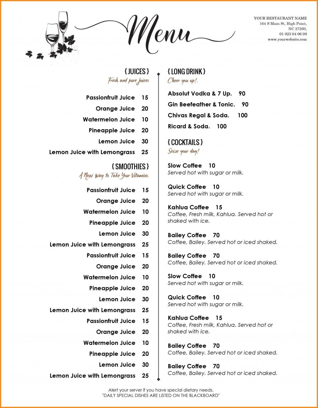 000 Amazing Menu Template Free Download Word High Resolution  Dinner Party WeddingLarge