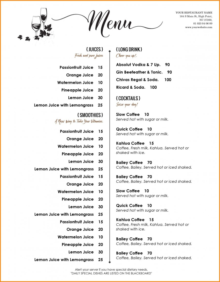 000 Amazing Menu Template Free Download Word High Resolution  Dinner Party Restaurant