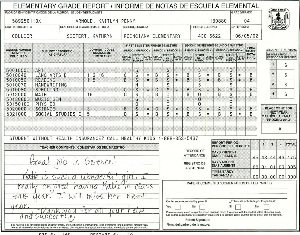 000 Amazing Middle School Report Card Template Pdf Inspiration Large