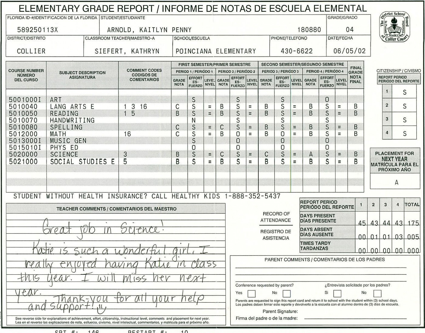 000 Amazing Middle School Report Card Template Pdf Inspiration 1400
