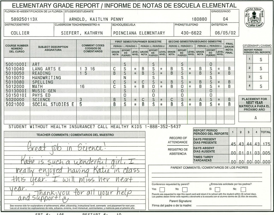 000 Amazing Middle School Report Card Template Pdf Inspiration 960