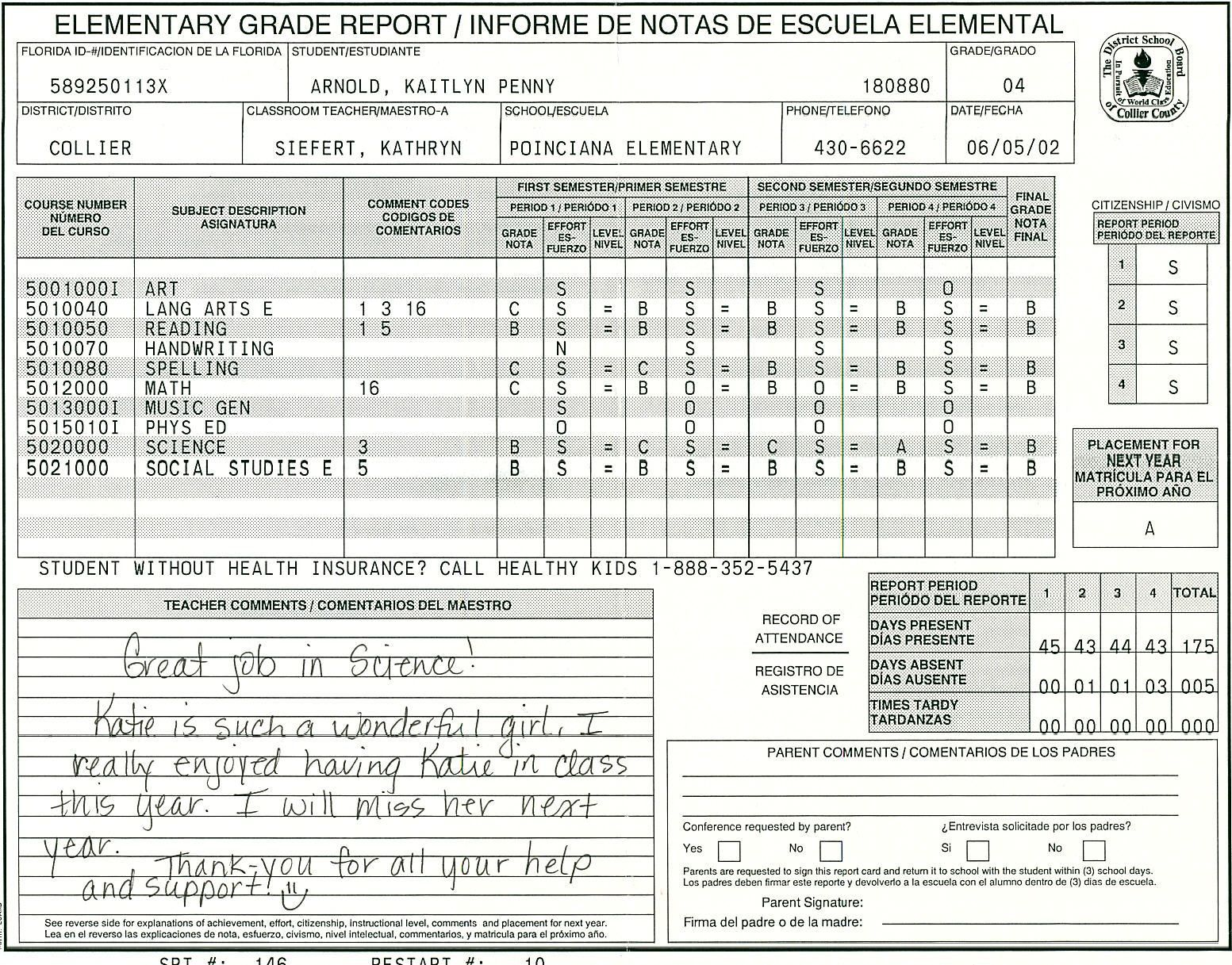 000 Amazing Middle School Report Card Template Pdf Inspiration Full