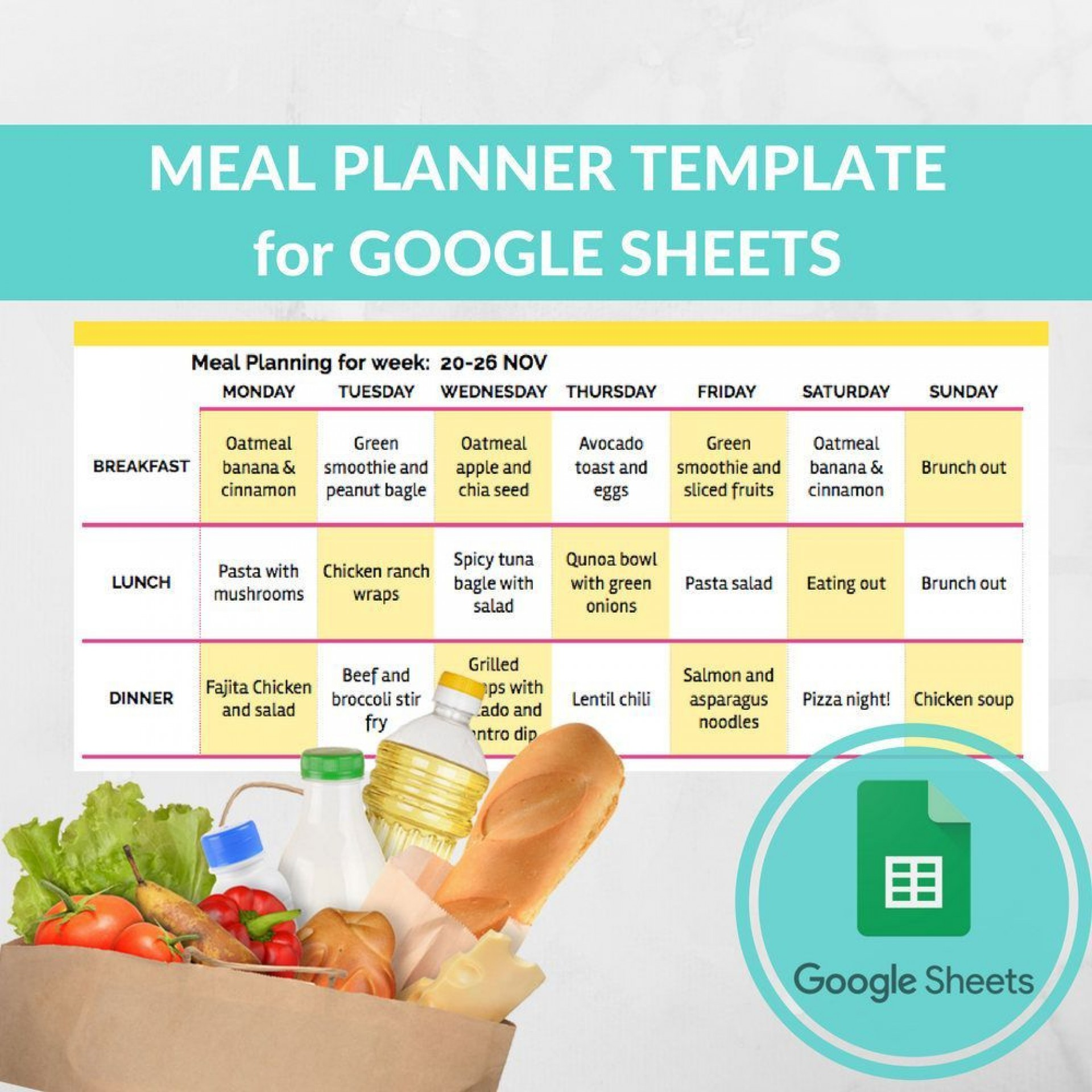 000 Amazing Monthly Meal Plan Template Google Doc Picture  Docs1920