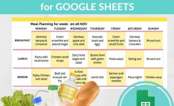 000 Amazing Monthly Meal Plan Template Google Doc Picture  Docs