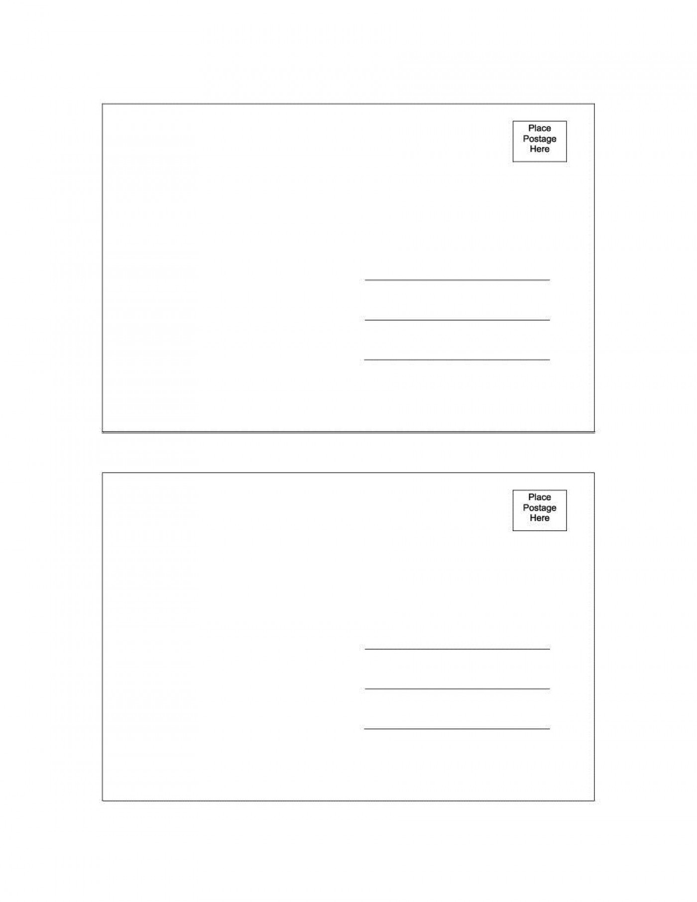 000 Amazing Postcard Layout For Microsoft Word Photo  Busines Template1400