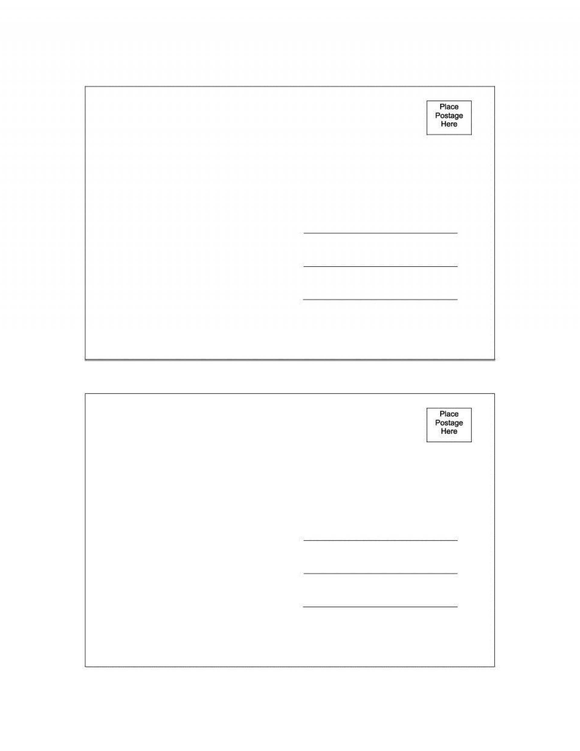000 Amazing Postcard Layout For Microsoft Word Photo  4 Template1920