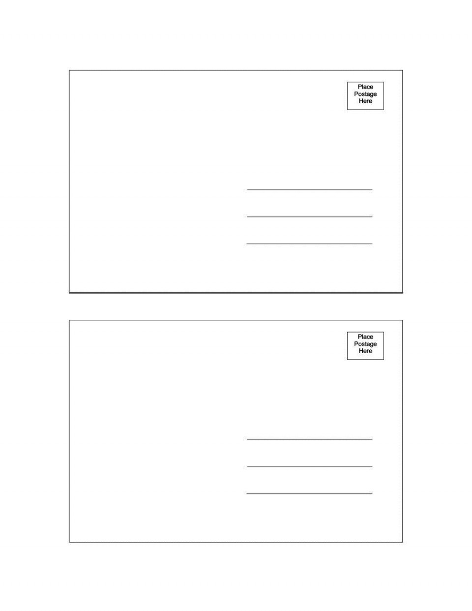000 Amazing Postcard Layout For Microsoft Word Photo  Busines Template960