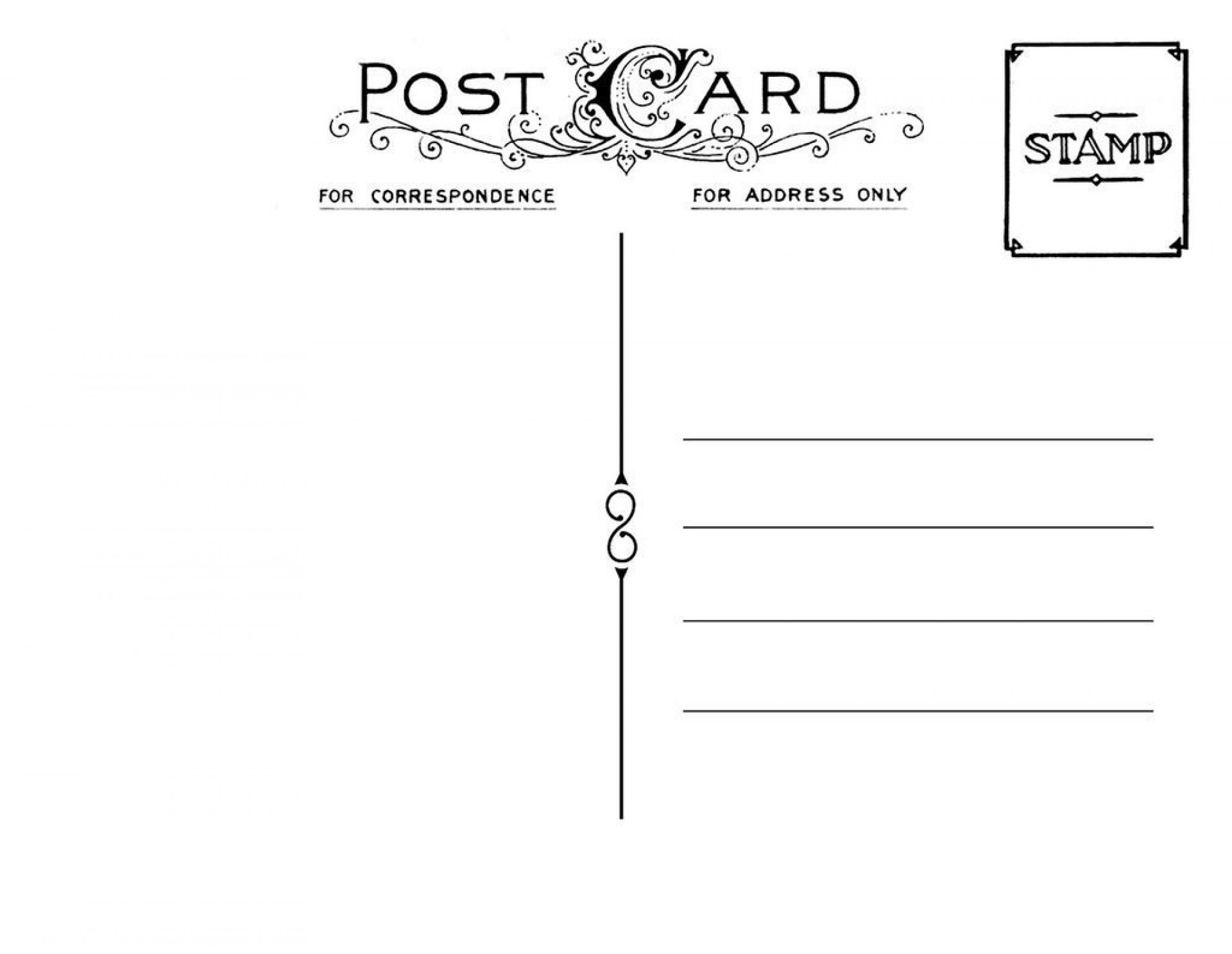 000 Amazing Postcard Template Front And Back High Resolution  Free Word1920