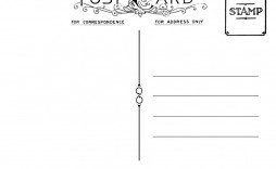 000 Amazing Postcard Template Front And Back High Resolution  Free Word