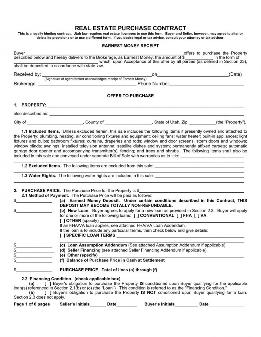 000 Amazing Purchase Agreement Template Real Estate Picture  Bc Pdf