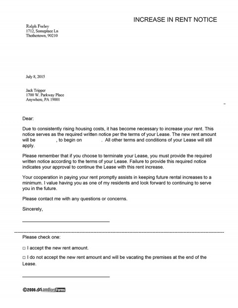 000 Amazing Rent Increase Letter Template Inspiration  Rental South Africa Nz Scotland480