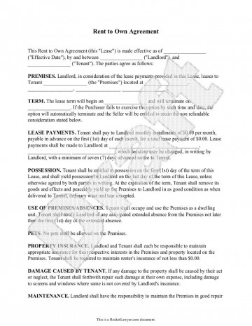 000 Amazing Rent To Own Agreement Template Image  Contract Florida South Africa360