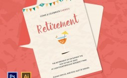 000 Amazing Retirement Party Invitation Template Free Inspiration  M Word