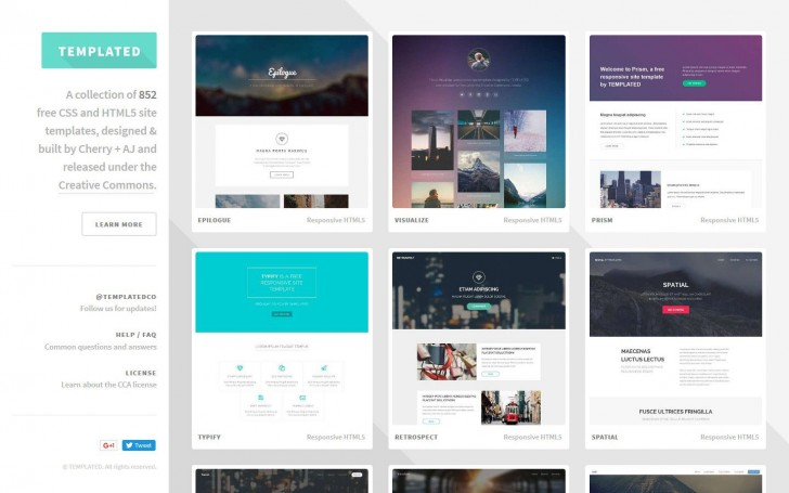 000 Amazing Simple One Page Website Template Free Download Example  Html With Cs728