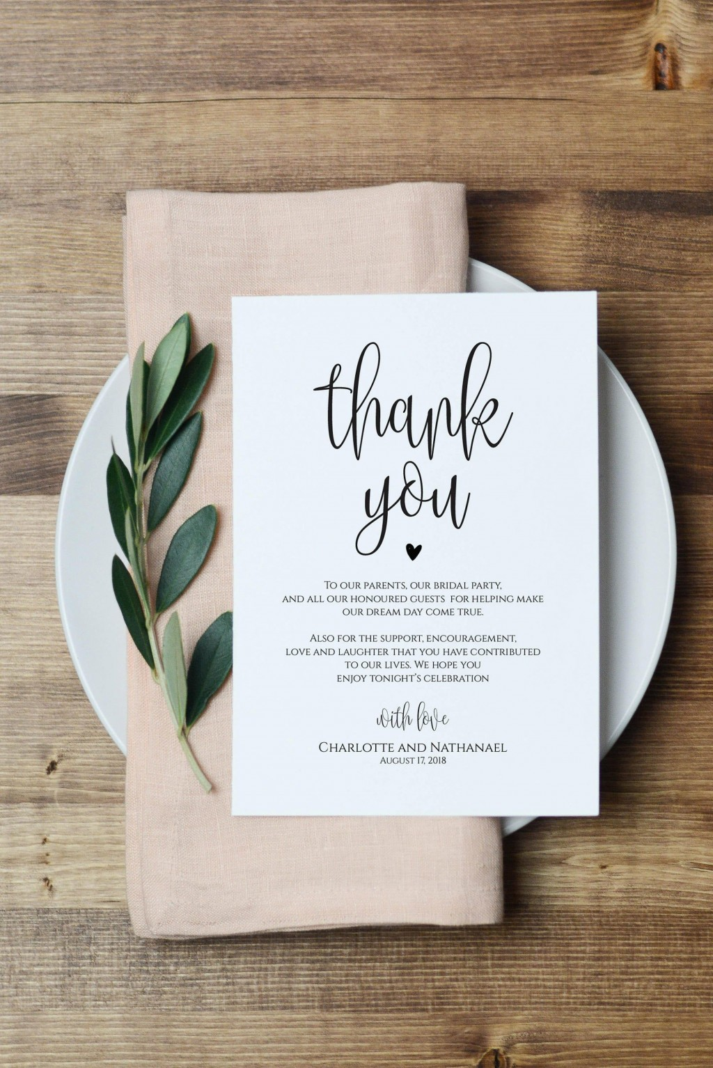 000 Amazing Thank You Note For Wedding Guest Template Picture  CardLarge