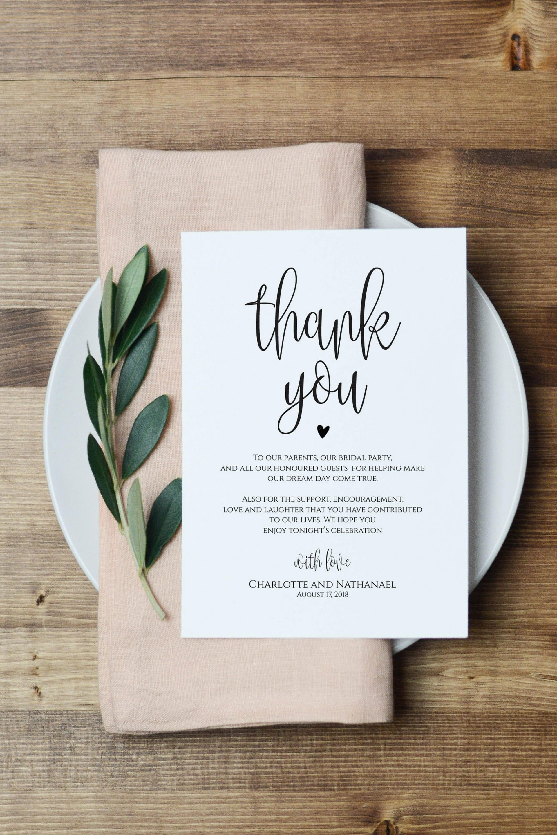000 Amazing Thank You Note For Wedding Guest Template Picture  Card1920