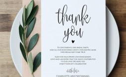 000 Amazing Thank You Note For Wedding Guest Template Picture  Card