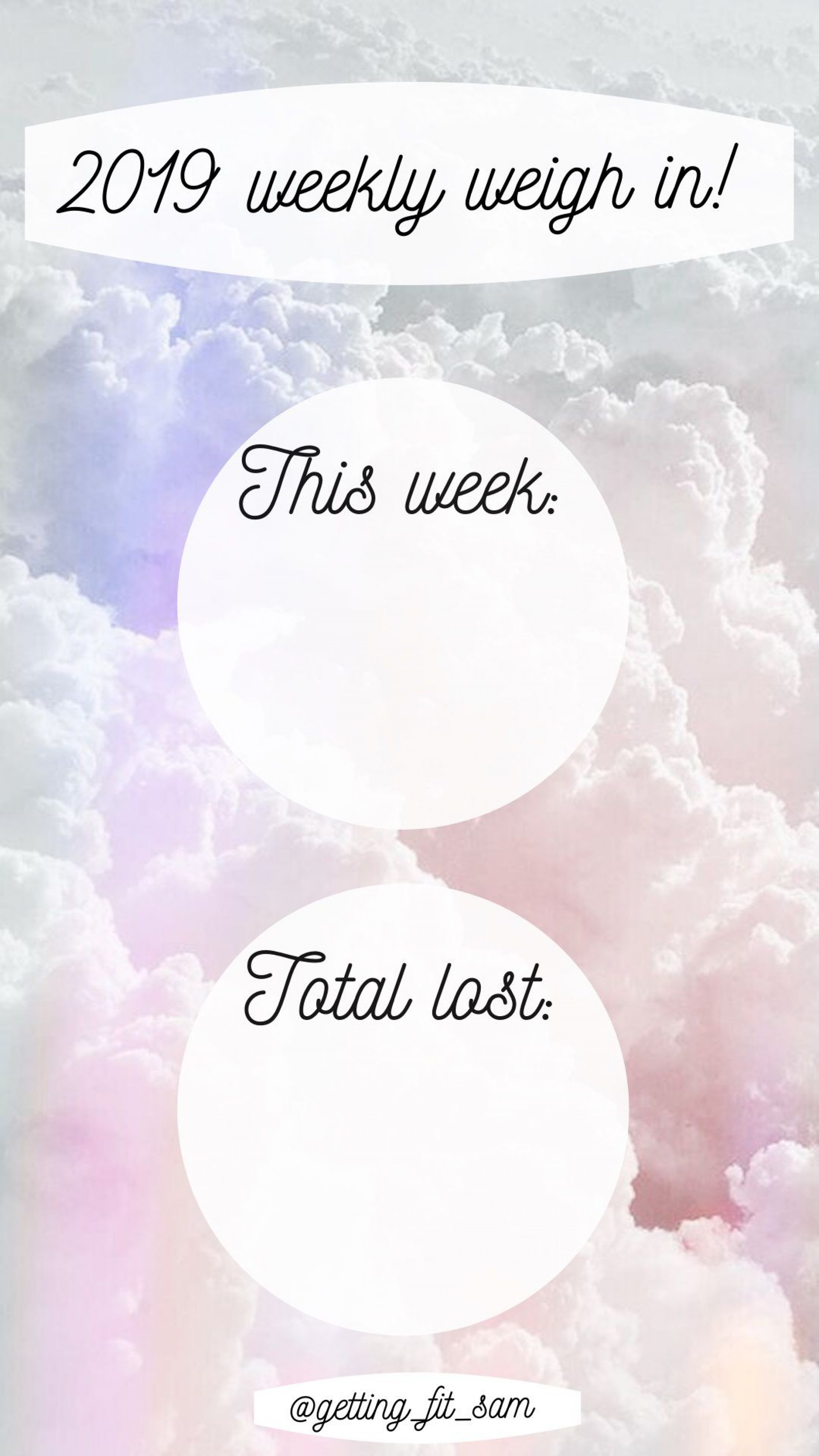 000 Amazing Weight Los Tracker Template Idea  Weekly In Thi Body I Live Instagram 2019 20201920