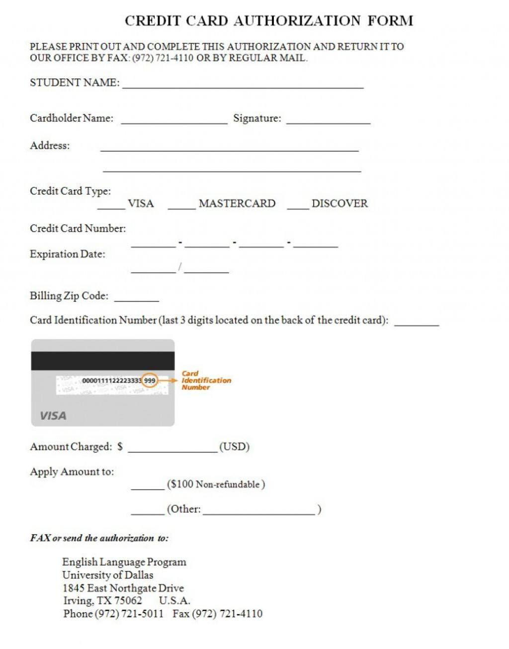 000 Archaicawful Credit Card Authorization Template Image  Form Pdf Fillable FreeLarge