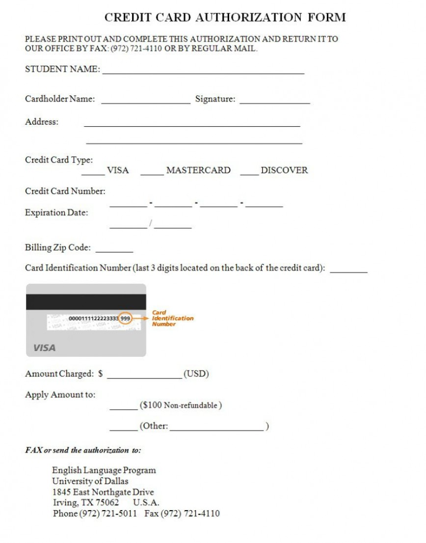 000 Archaicawful Credit Card Authorization Template Image  Form Canada Free Excel Letter