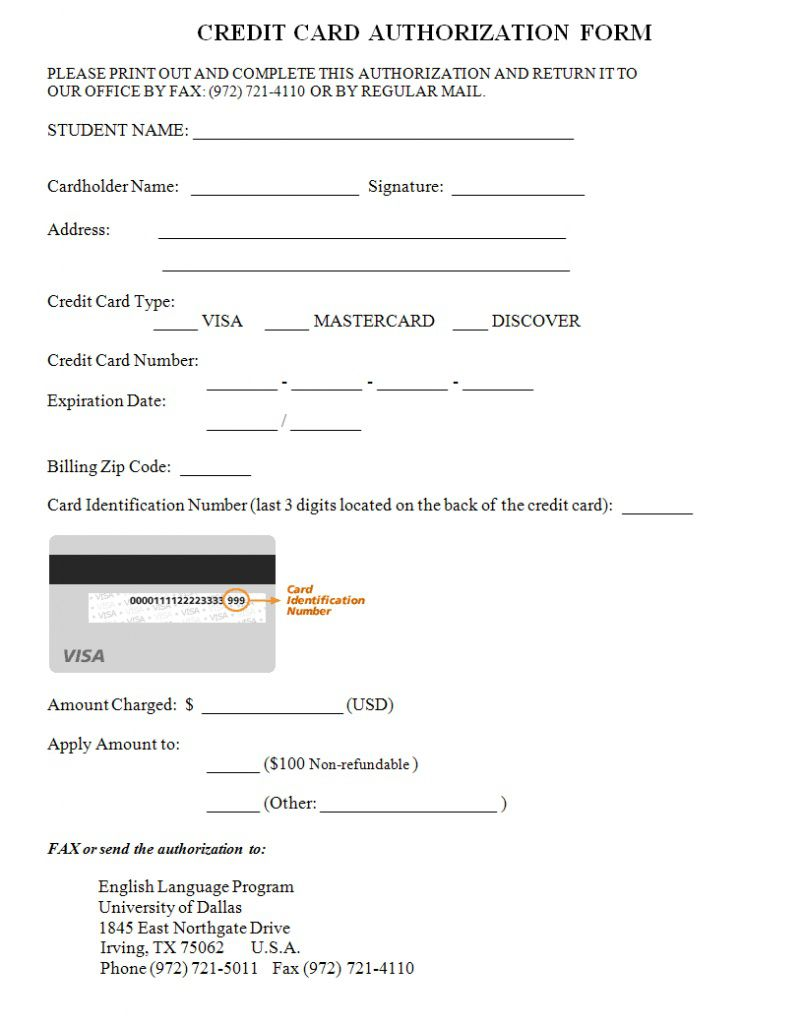000 Archaicawful Credit Card Authorization Template Image  Form Pdf Fillable FreeFull