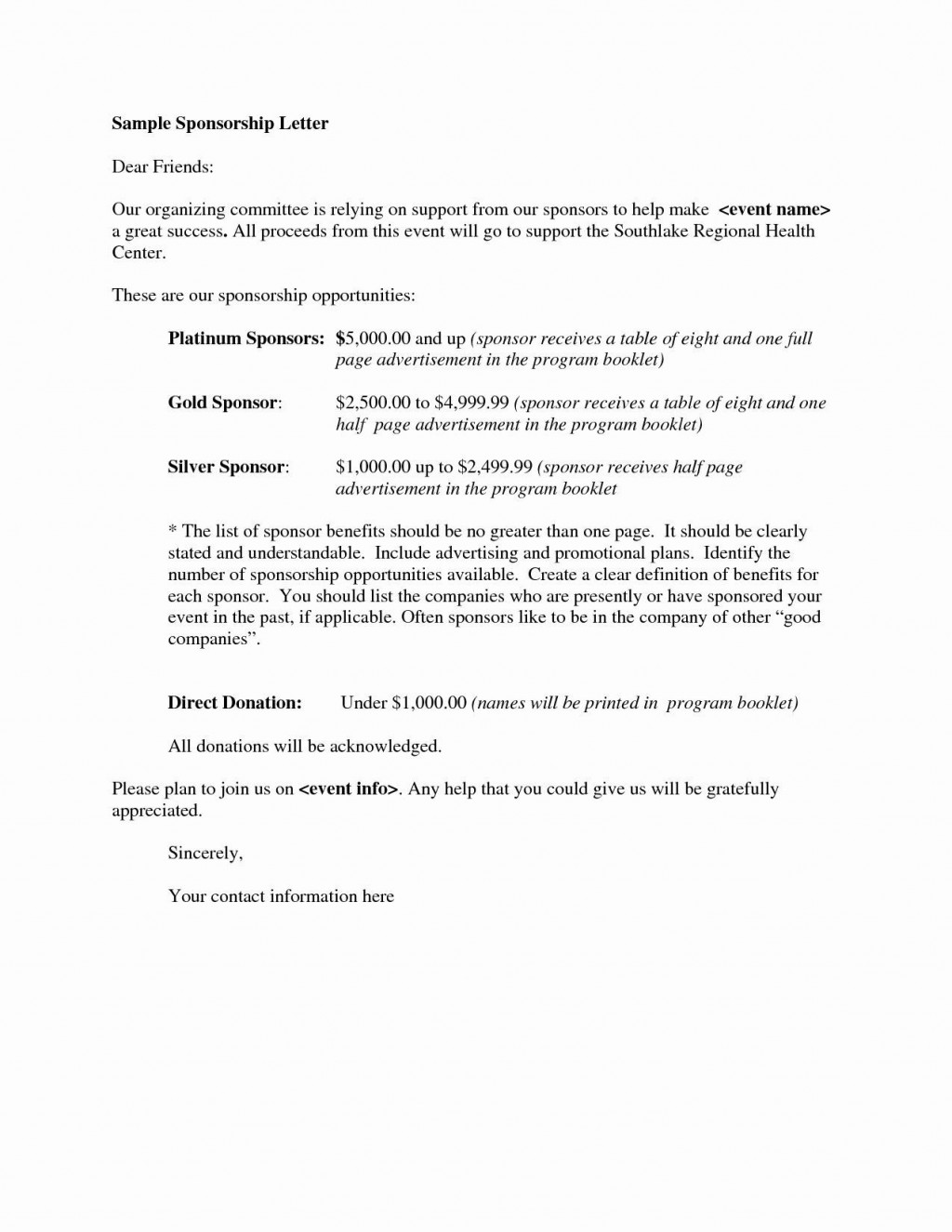 000 Archaicawful Event Sponsorship Proposal Sample Pdf  For Letter Music TemplateLarge