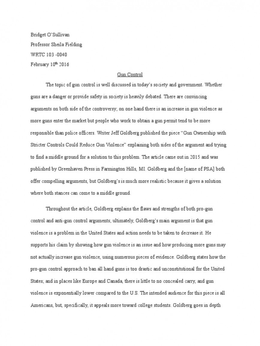000 Archaicawful Gun Control Essay Sample  Title Conclusion Paragraph For Research Paper Outline