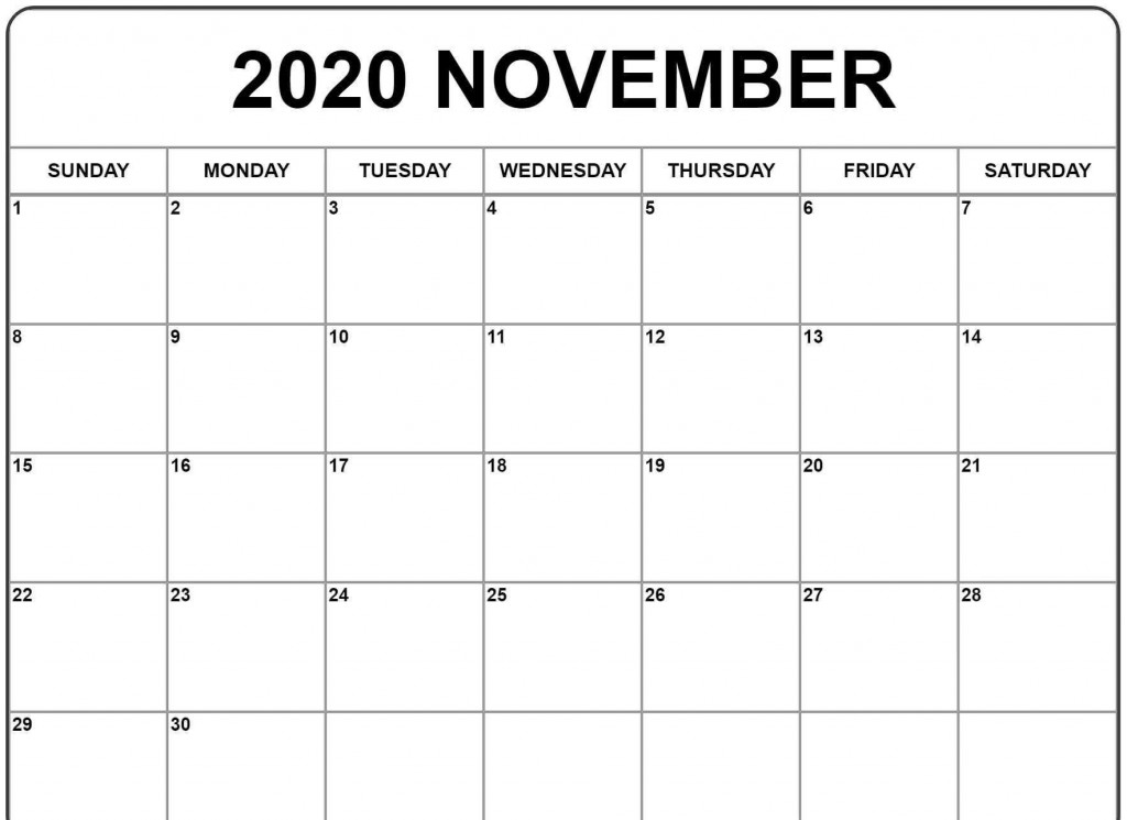 000 Archaicawful Printable Calendar Template November 2020 Highest Quality  FreeLarge