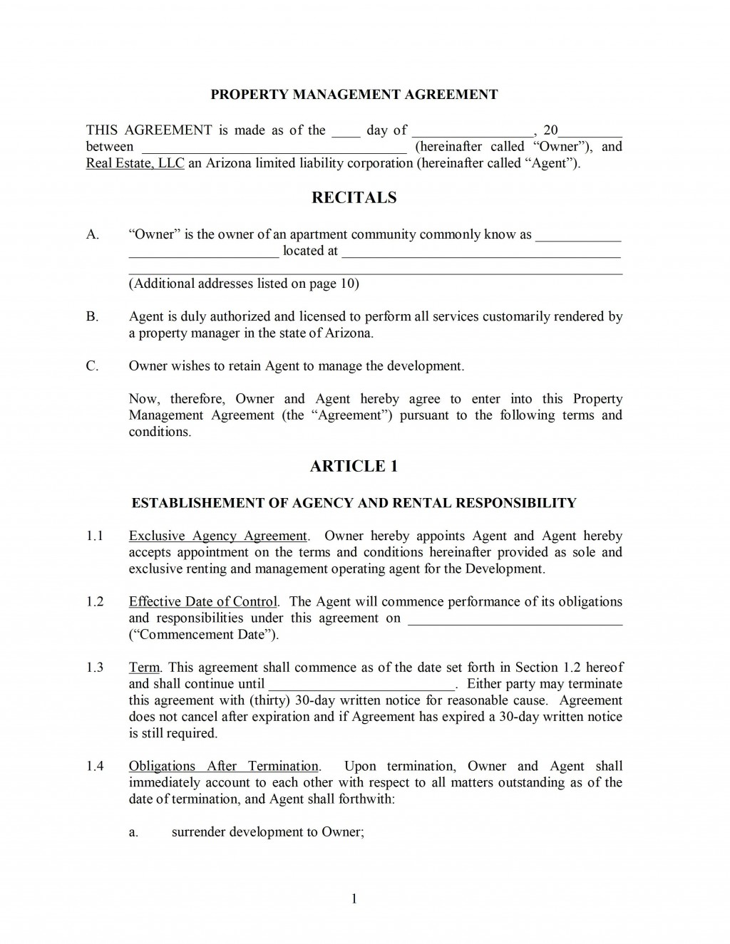 000 Archaicawful Property Management Agreement Template High Resolution  Templates Sample Termination Of Commercial FormLarge