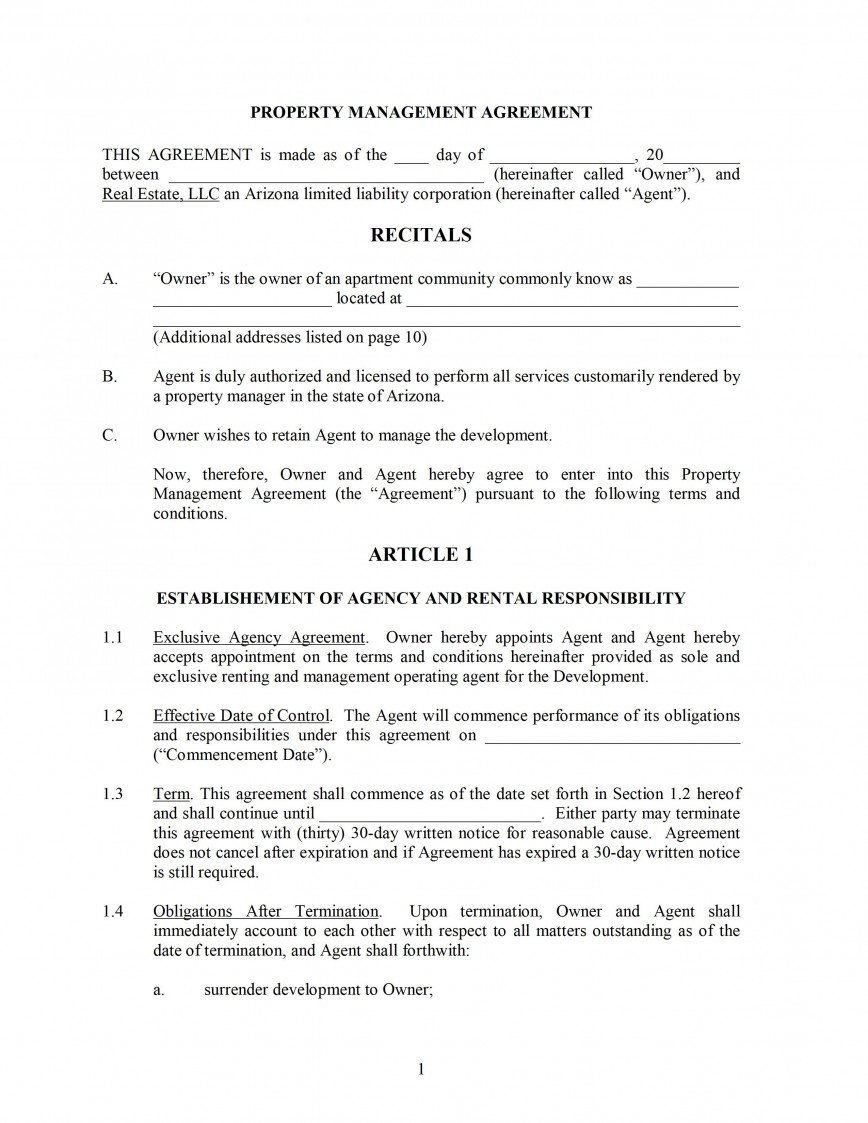 000 Archaicawful Property Management Agreement Template High Resolution  Templates Example Free Short Form