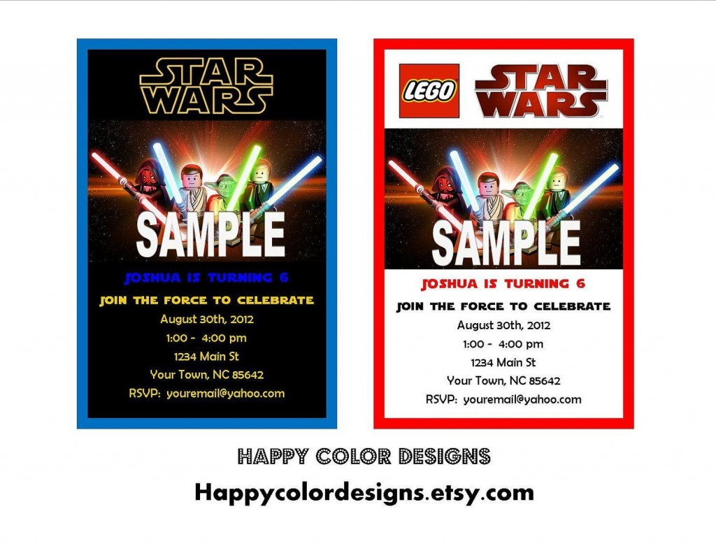 000 Archaicawful Star War Birthday Invitation Template Example  Free Party PrintableLarge