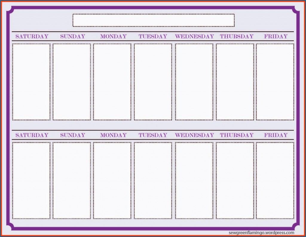 000 Archaicawful Two Week Calendar Template Inspiration  2 Word PrintableLarge