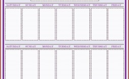 000 Archaicawful Two Week Calendar Template Inspiration  2 Word Printable