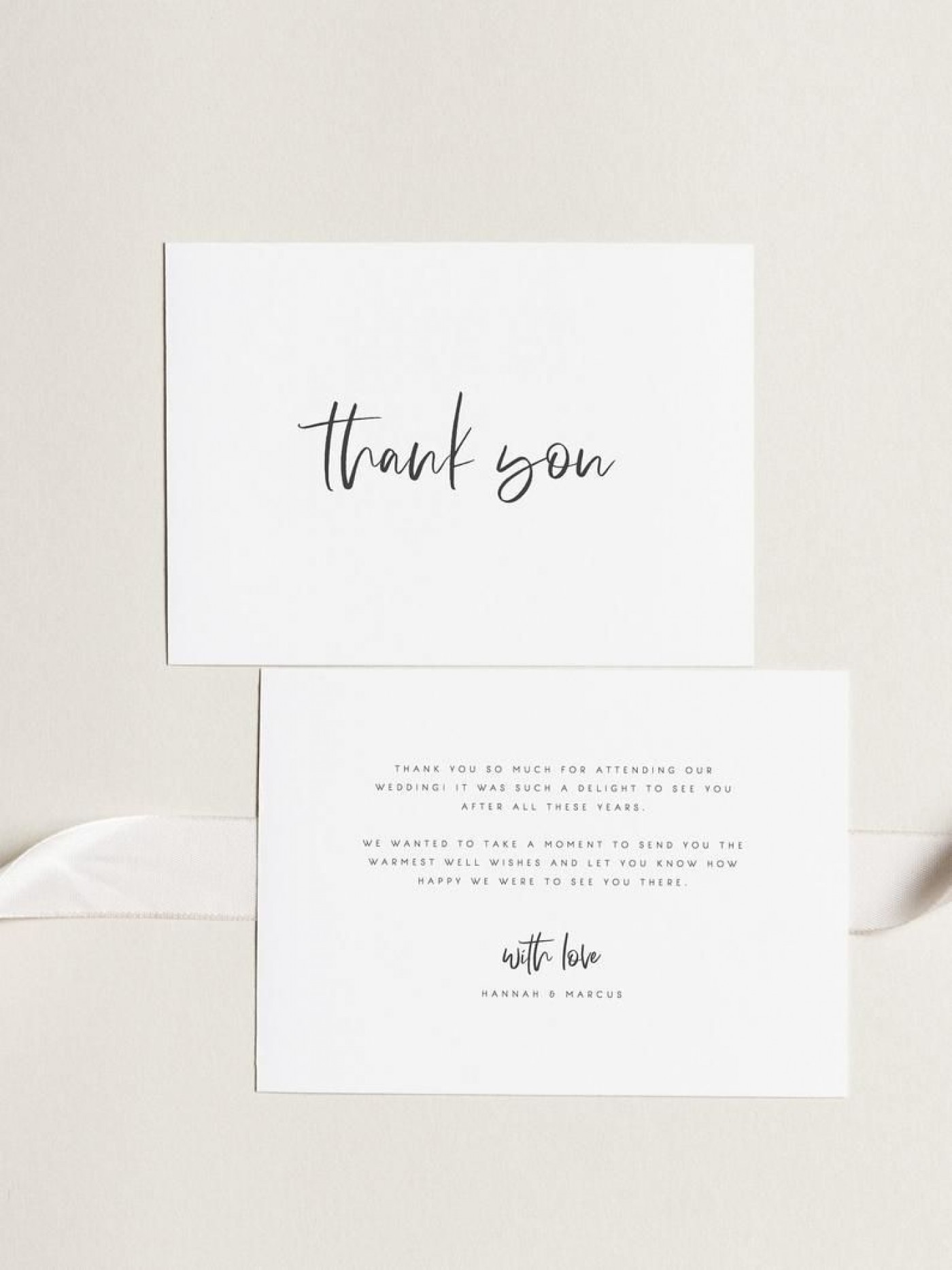 000 Archaicawful Wedding Thank You Card Template Example  Photoshop Word Etsy1400