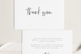 000 Archaicawful Wedding Thank You Card Template Example  Photoshop Word Etsy