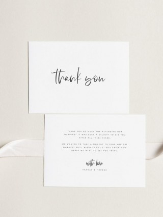 000 Archaicawful Wedding Thank You Card Template Example  Photoshop Word Etsy320