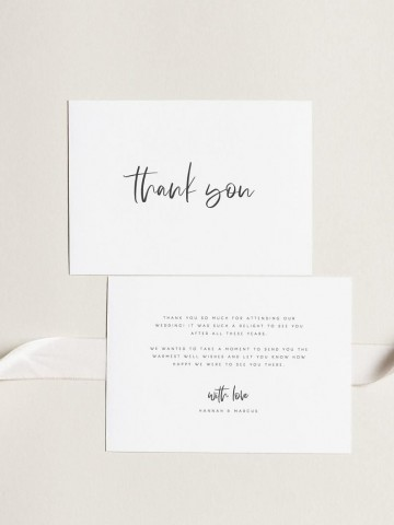 000 Archaicawful Wedding Thank You Card Template Example  Photoshop Word Etsy360