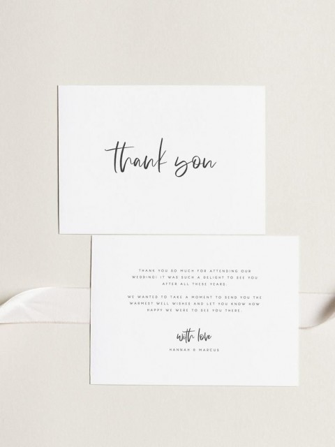 000 Archaicawful Wedding Thank You Card Template Example  Photoshop Word Etsy480