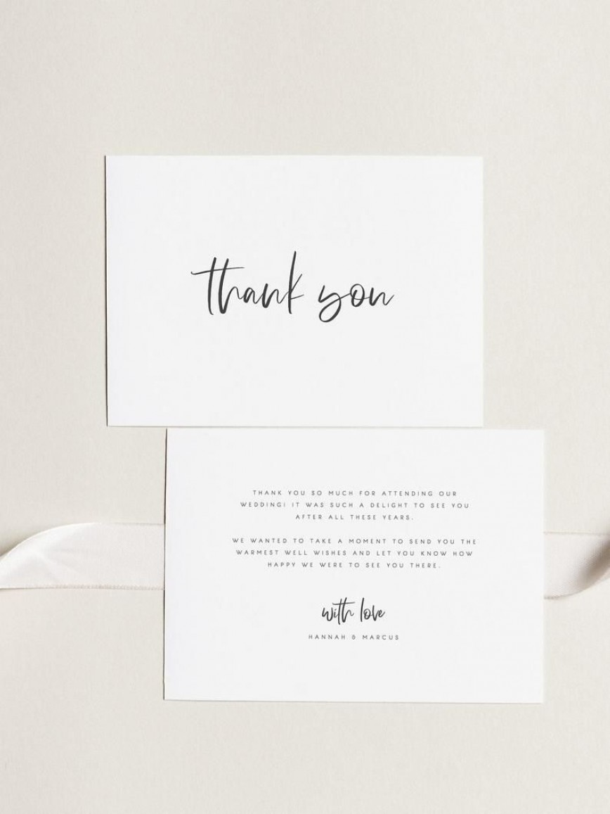 000 Archaicawful Wedding Thank You Card Template Example  Free Photoshop For Money Photo