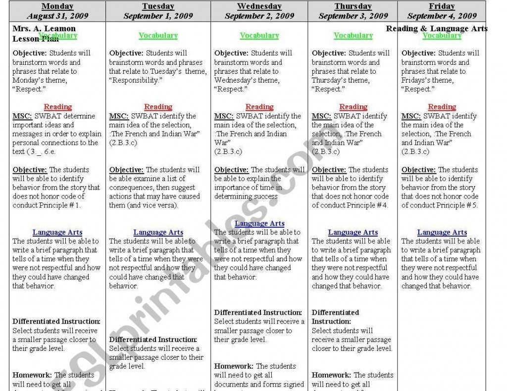 000 Archaicawful Weekly Lesson Plan Template Editable Highest Quality  Google Doc Preschool Downloadable FreeLarge